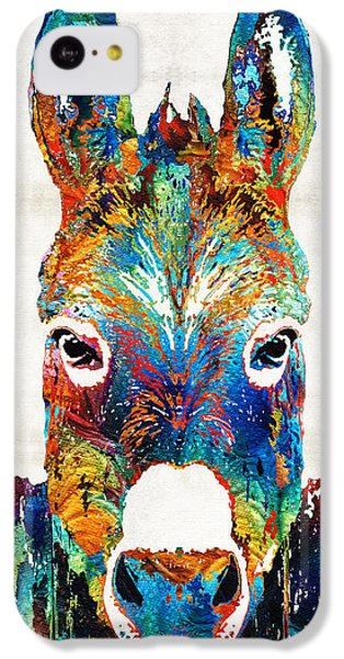 Colorful Donkey Art - Mr. Personality - By Sharon Cummings IPhone 5c Case by Sharon Cummings