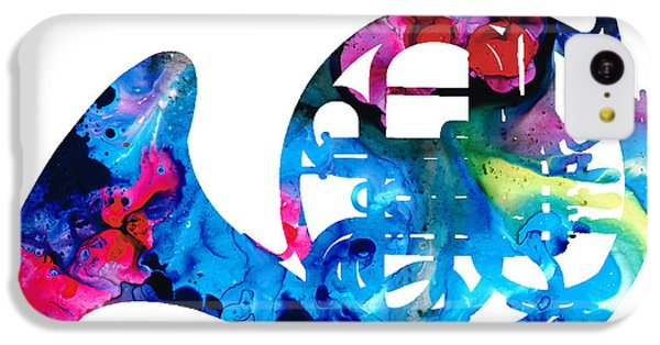 Colorful French Horn 2 - Cool Colors Abstract Art Sharon Cummings IPhone 5c Case by Sharon Cummings