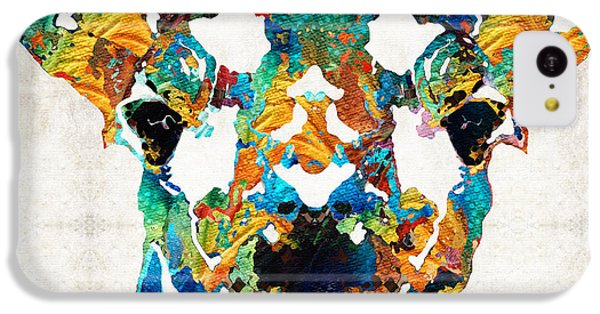 Colorful Giraffe Art - Curious - By Sharon Cummings IPhone 5c Case