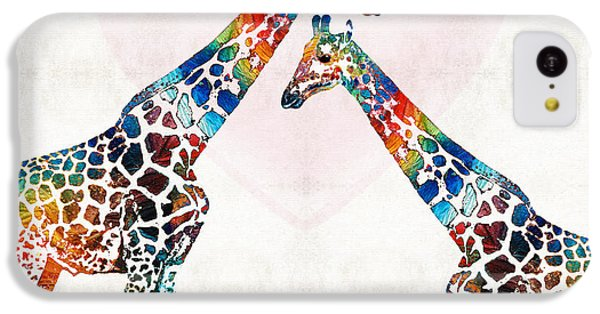 Colorful Giraffe Art - I've Got Your Back - By Sharon Cummings IPhone 5c Case