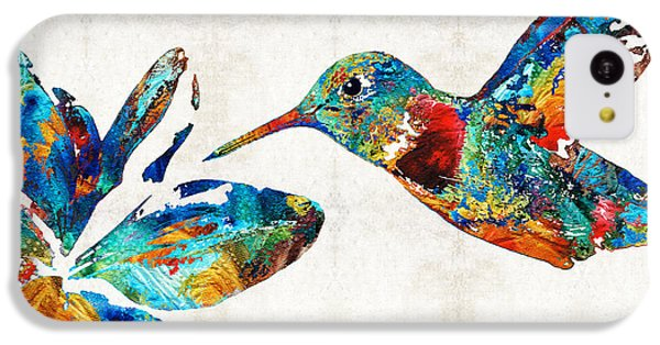 Humming Bird iPhone 5c Case - Colorful Hummingbird Art By Sharon Cummings by Sharon Cummings