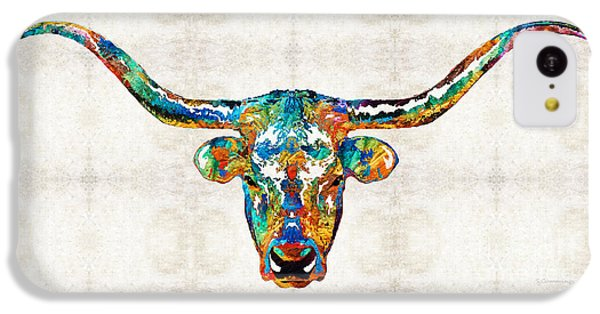 Colorful Longhorn Art By Sharon Cummings IPhone 5c Case
