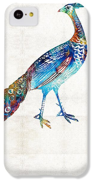 Peacock iPhone 5c Case - Colorful Peacock Art By Sharon Cummings by Sharon Cummings