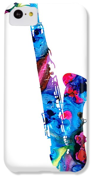 Colorful Saxophone 2 By Sharon Cummings IPhone 5c Case by Sharon Cummings