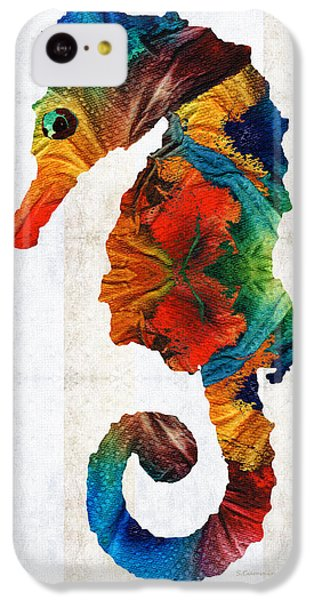 Colorful Seahorse Art By Sharon Cummings IPhone 5c Case by Sharon Cummings