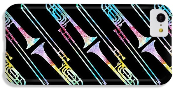 Colorwashed Trombones IPhone 5c Case by Jenny Armitage