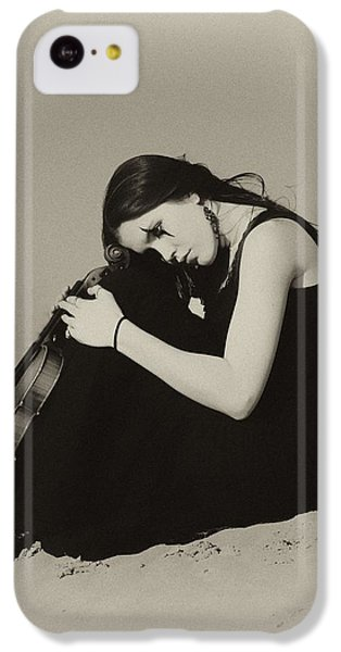 Violin iPhone 5c Case - Comfort In The Desert by Gun Legler