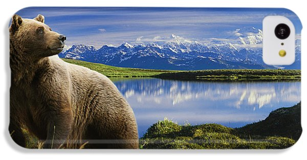 Composite Grizzly Stands In Front Of IPhone 5c Case by Michael Jones