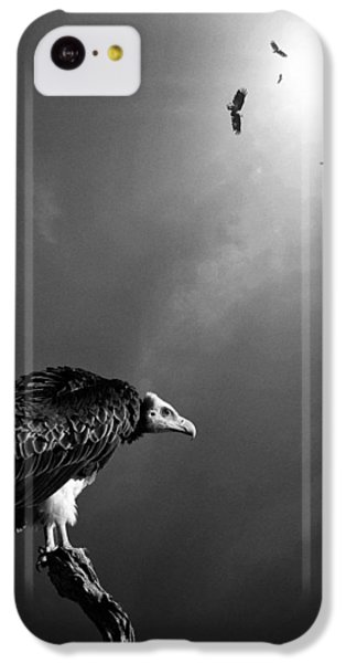 Conceptual - Vultures Awaiting IPhone 5c Case by Johan Swanepoel