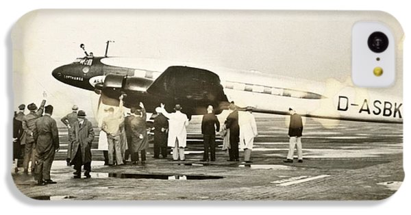 Condor iPhone 5c Case - Condor Aircraft Before Take-off by Eye On The Reich: German Propaganda Photographs/new York Public Library