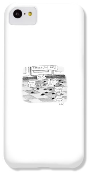 Ant iPhone 5c Case - Contractor Ants Are Leaving A House. Ants' Speech by Roz Chast