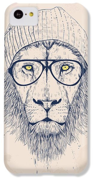 Animals iPhone 5c Case - Cool Lion by Balazs Solti