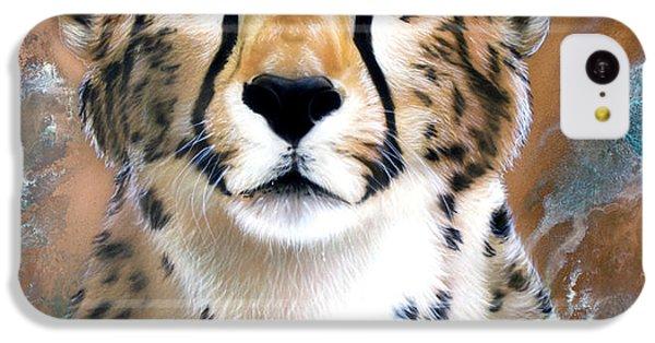 Cheetah iPhone 5c Case - Copper Flash - Cheetah by Sandi Baker
