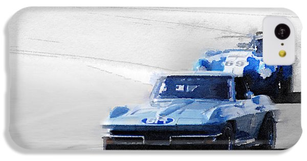 Cobra iPhone 5c Case - Corvette And Ac Cobra Shelby Watercolor by Naxart Studio