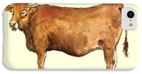 Cow iPhone 5c Case - Cow by Juan  Bosco