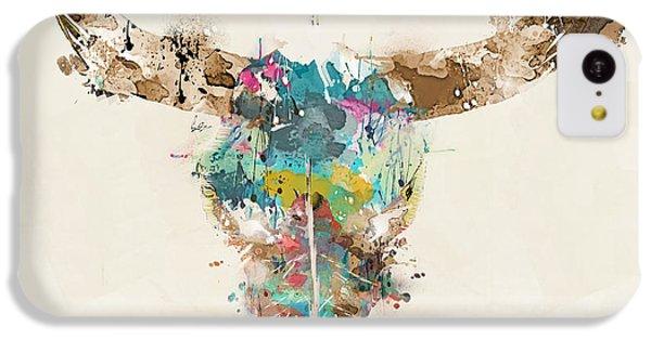 Bull iPhone 5c Case - Cow Skull by Bri Buckley