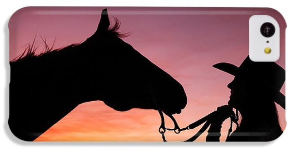 Cowgirl Sunset IPhone 5c Case by Todd Klassy