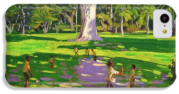Cricket iPhone 5c Case - Cricket Match St George Granada by Andrew Macara
