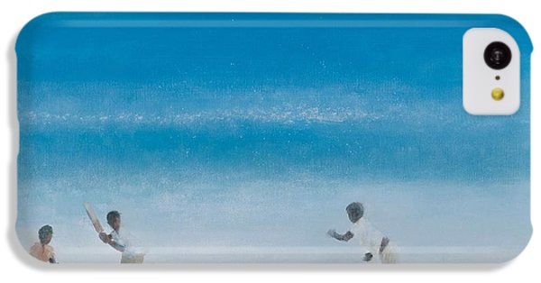 Cricket iPhone 5c Case - Cricket On The Beach, 2012 Acrylic On Canvas by Lincoln Seligman