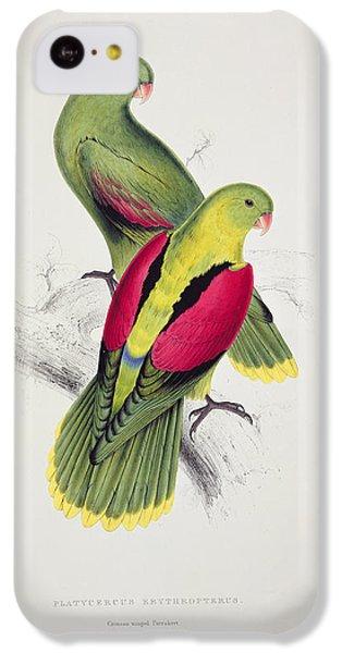 Parakeet iPhone 5c Case - Crimson Winged Parakeet by Edward Lear