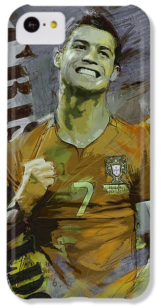 Cristiano Ronaldo IPhone 5c Case by Corporate Art Task Force
