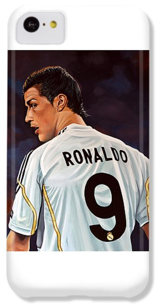 Cristiano Ronaldo IPhone 5c Case by Paul Meijering