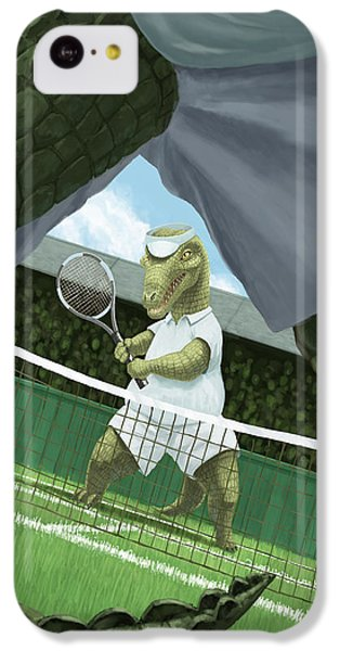 Crocodiles Playing Tennis At Wimbledon  IPhone 5c Case by Martin Davey