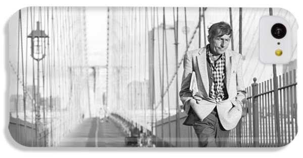 Crossing Brooklyn Bridge IPhone 5c Case by Dave Beckerman