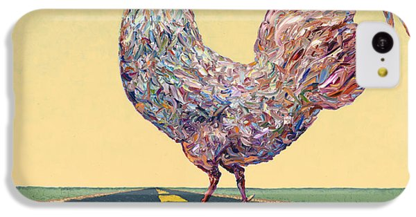 Rooster iPhone 5c Case - Crossing Chicken by James W Johnson