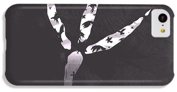 Raven iPhone 5c Case - Crow's Foot by Daniel Hapi