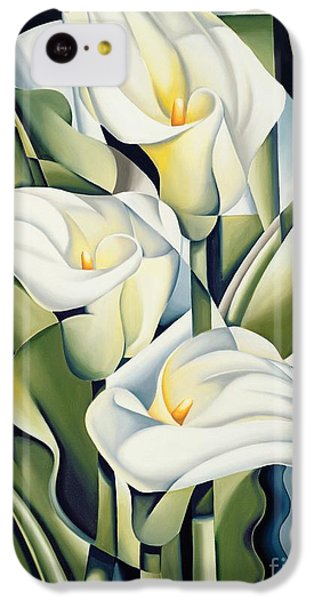 Cubist Lilies IPhone 5c Case by Catherine Abel