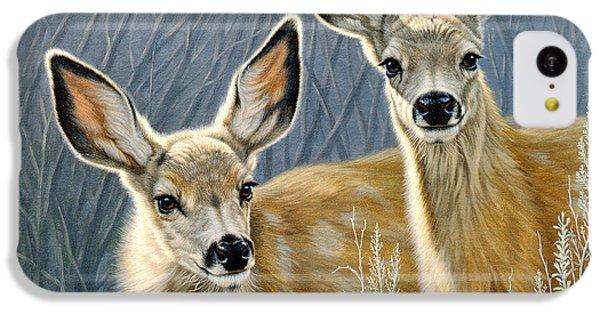 Deer iPhone 5c Case - Curious Pair by Paul Krapf