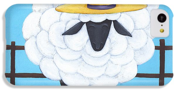 Sheep iPhone 5c Case - Cute Sheep Nursery Art by Christy Beckwith