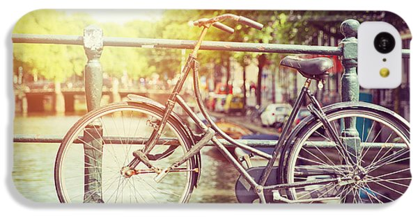 Bicycle iPhone 5c Case - Cycle In Sun by Jane Rix