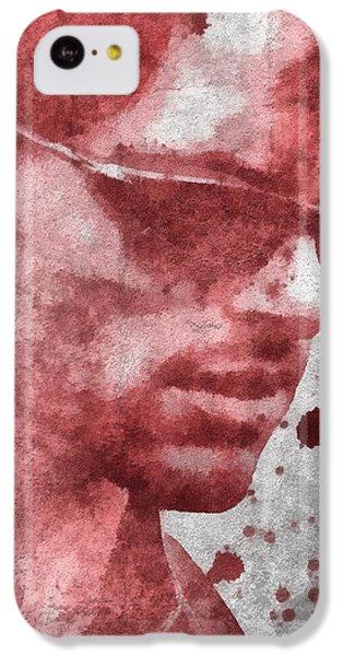 Cyclops iPhone 5c Case - Cyclops X Men Paint Splatter by Dan Sproul