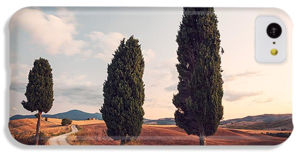 Cypress Lined Road In Tuscany IPhone 5c Case by Matteo Colombo