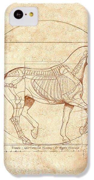 Animals iPhone 5c Case - da Vinci Horse in Piaffe by Catherine Twomey