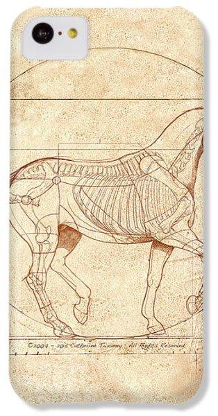Horse iPhone 5c Case - da Vinci Horse in Piaffe by Catherine Twomey