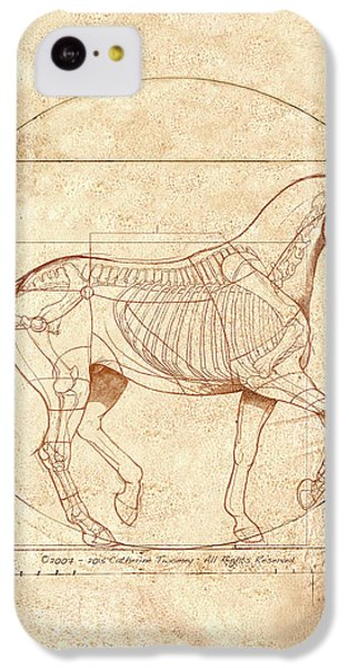 da Vinci Horse in Piaffe IPhone 5c Case by Catherine Twomey
