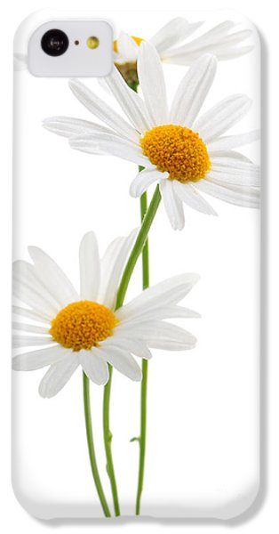 Daisies On White Background IPhone 5c Case