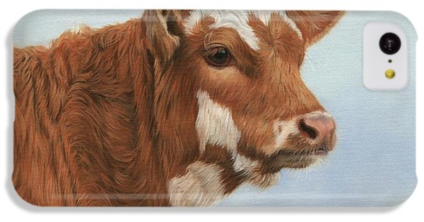 Cow iPhone 5c Case - Daisy by David Stribbling