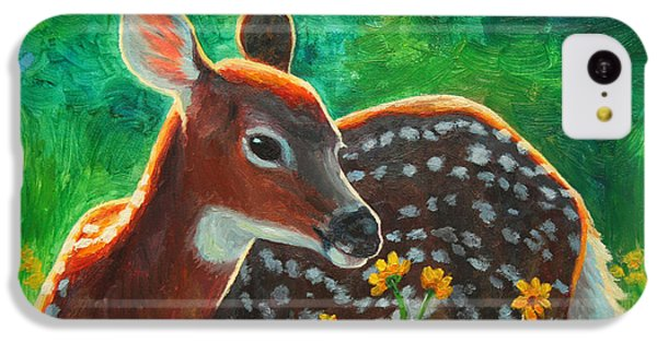 Deer iPhone 5c Case - Daisy Deer by Crista Forest