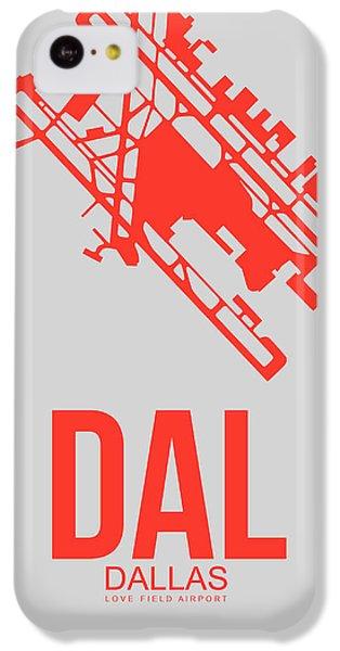 Miami iPhone 5c Case - Dal Dallas Airport Poster 1 by Naxart Studio