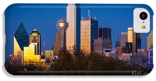 Dallas Skyline IPhone 5c Case by Inge Johnsson