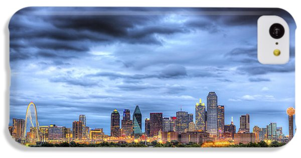 Dallas Skyline IPhone 5c Case by Shawn Everhart