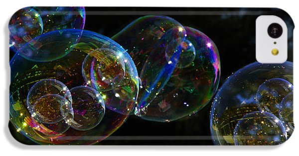 Dark Bubbles With Babies IPhone 5c Case by Nareeta Martin