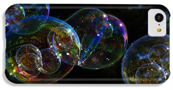 IPhone 5c Case featuring the photograph Dark Bubbles With Babies by Nareeta Martin