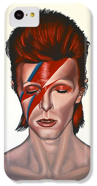 Portraits iPhone 5c Case - David Bowie Aladdin Sane by Paul Meijering
