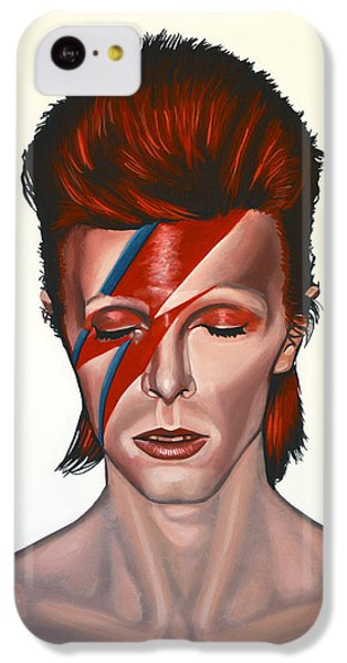 Musicians iPhone 5c Case - David Bowie Aladdin Sane by Paul Meijering