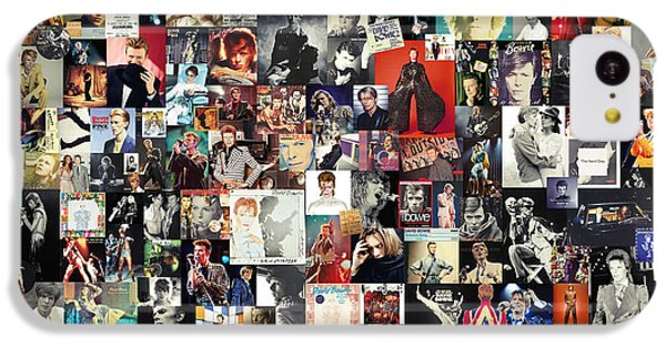 Folk Art iPhone 5c Case - David Bowie Collage by Taylan Apukovska